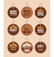 Wooden sale discount vintage badges vector image