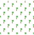 Palm tree pattern cartoon style vector image