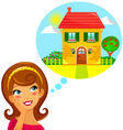 dream home vector image