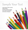 Colored wooden pencils text vector image vector image