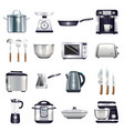 kitchen accessories set vector image