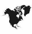 north america map monochrome north america icon vector image