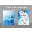 Squares flyer template vector image vector image