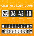 ChChristmas countdown timer vector image vector image