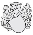 aristocratic emblem No8 vector image
