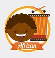 african kid vector image
