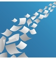 White paper sheets flying in the air vector image