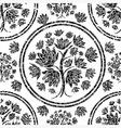 seamless tree pattern 08 grunge vector image vector image