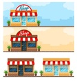 Facade exterior shop flat vector image