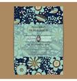 Wedding invitation card dark vector image