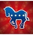 Democrat party design vector image