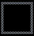 Simple geometric ethnic frame on black vector image vector image
