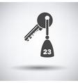 Hotel room key vector image