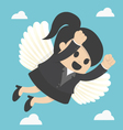 Business Woman flying freedom vector image