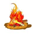 Camp fire sketch vector image