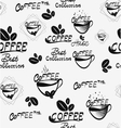 Coffee seamless pattern with brown cups of brewed vector image