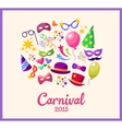 festive banner with carnival colorful vector image