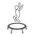 line pictogram man jumping up concept vector image