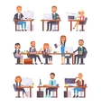 Office people at work set vector image