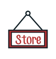 store label hanging icon vector image