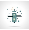Telecommunication technology flat icon vector image