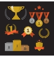Trophy and awards set vector image