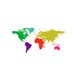 World map Icon vector image