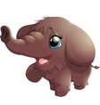 mammoth on white background vector image