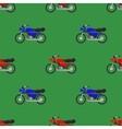 Red Blue Sport Bike Seamless Pattern vector image