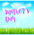Happy mother day realistic greeting banner with vector image