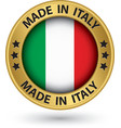 Made in Italy gold label vector image