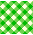 Tablecloth Pattern Green vector image