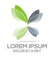 Logo Leaves Organic Natural leaf vector image