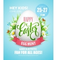 Easter Egg Hunt poster vector image