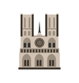 Norte Dame Cathedral Paris icon flat style vector image