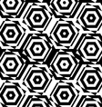 Black and white alternating squares cut through vector image
