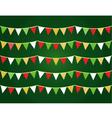 Christmas flags vector image