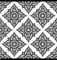 floral seamless pattern inspired by thai art vector image