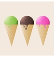 Realistic ice-cream of vector image