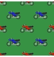 Red Blue Sport Bike Seamless Pattern vector image