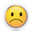 Sad face vector image