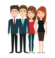 team group human resources teamwork design vector image