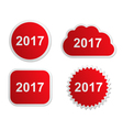 2017 buttons vector image vector image
