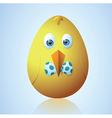 Cute Easter egg vector image