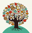 Concept design art books tree vector image