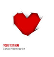 heart cut out of white paper - vector image vector image