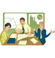 Unsuccessful meeting vector image