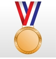 Bronze medal winners on the tape vector image