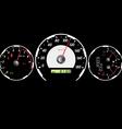 car speedometer vector image vector image