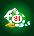 Gambling set vector